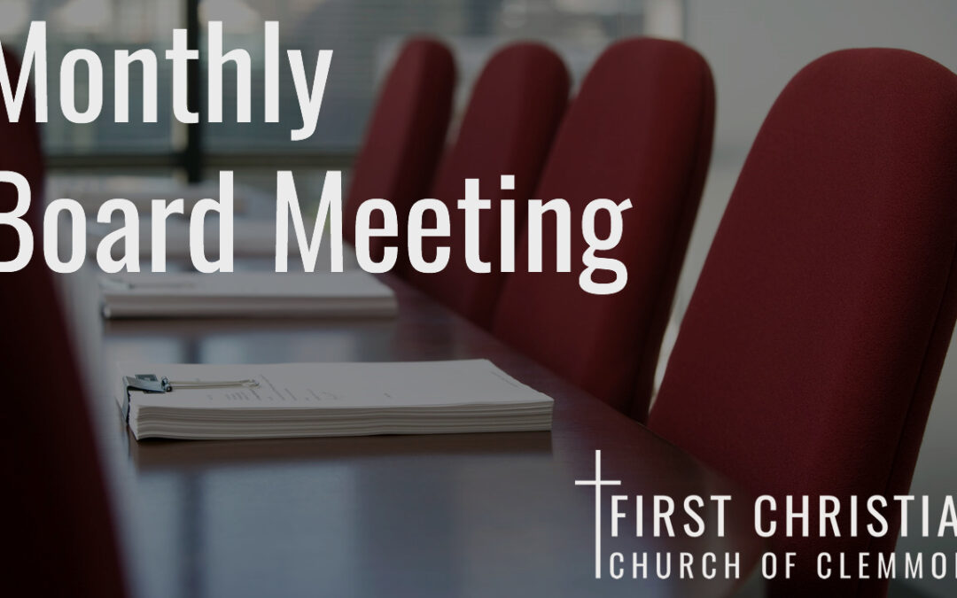 Monthly Board Meeting