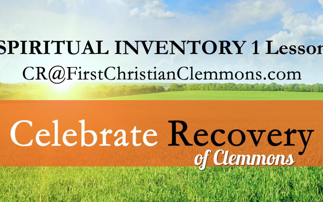 Spiritual Inventory 1 Lesson